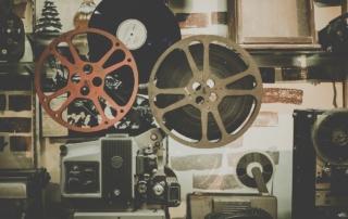 Cinema un Vecchio Proiettore Analogico