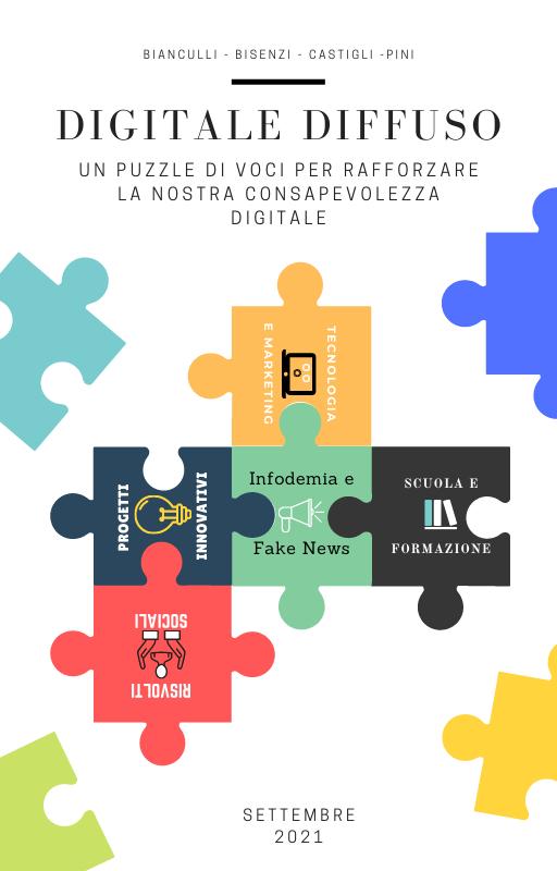 Digitale Diffuso Copertina Ebook - Un puzzle di voci per rafforzare la nostra consapevolezza digitale